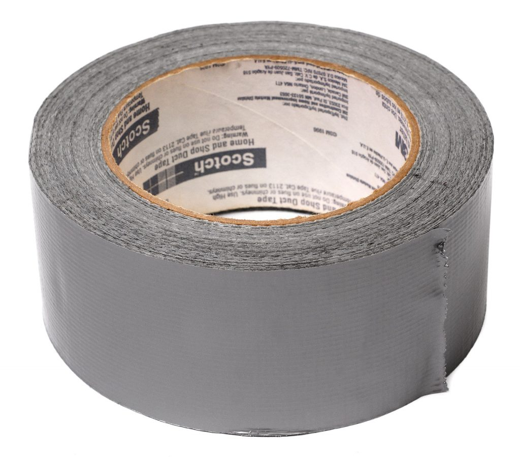 | A roll of adhesive Tape.