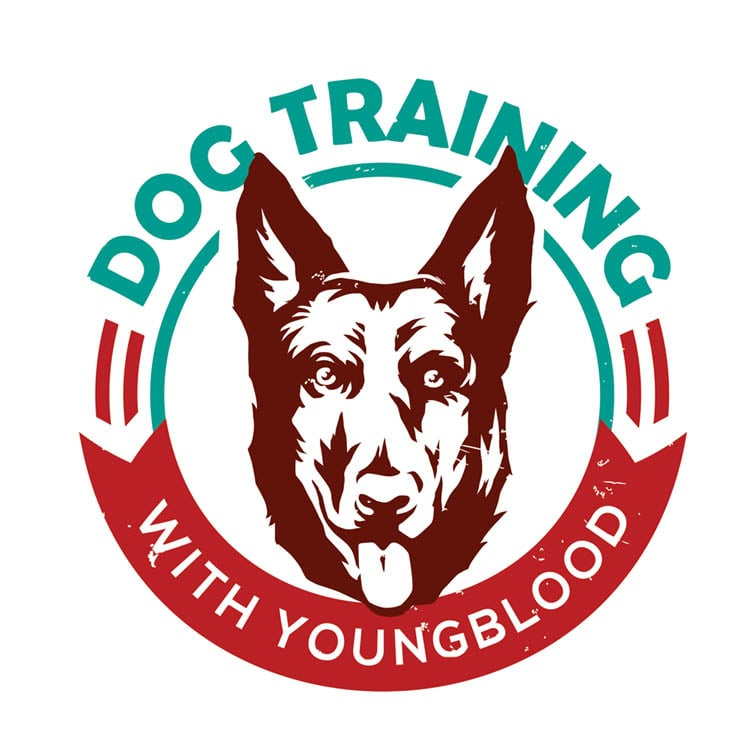 logo of the dog training with young blood facility of dog training in Portland