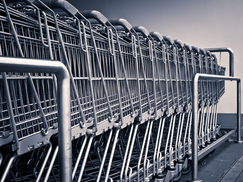 Shopping carts-how to pee-pad train  a puppy