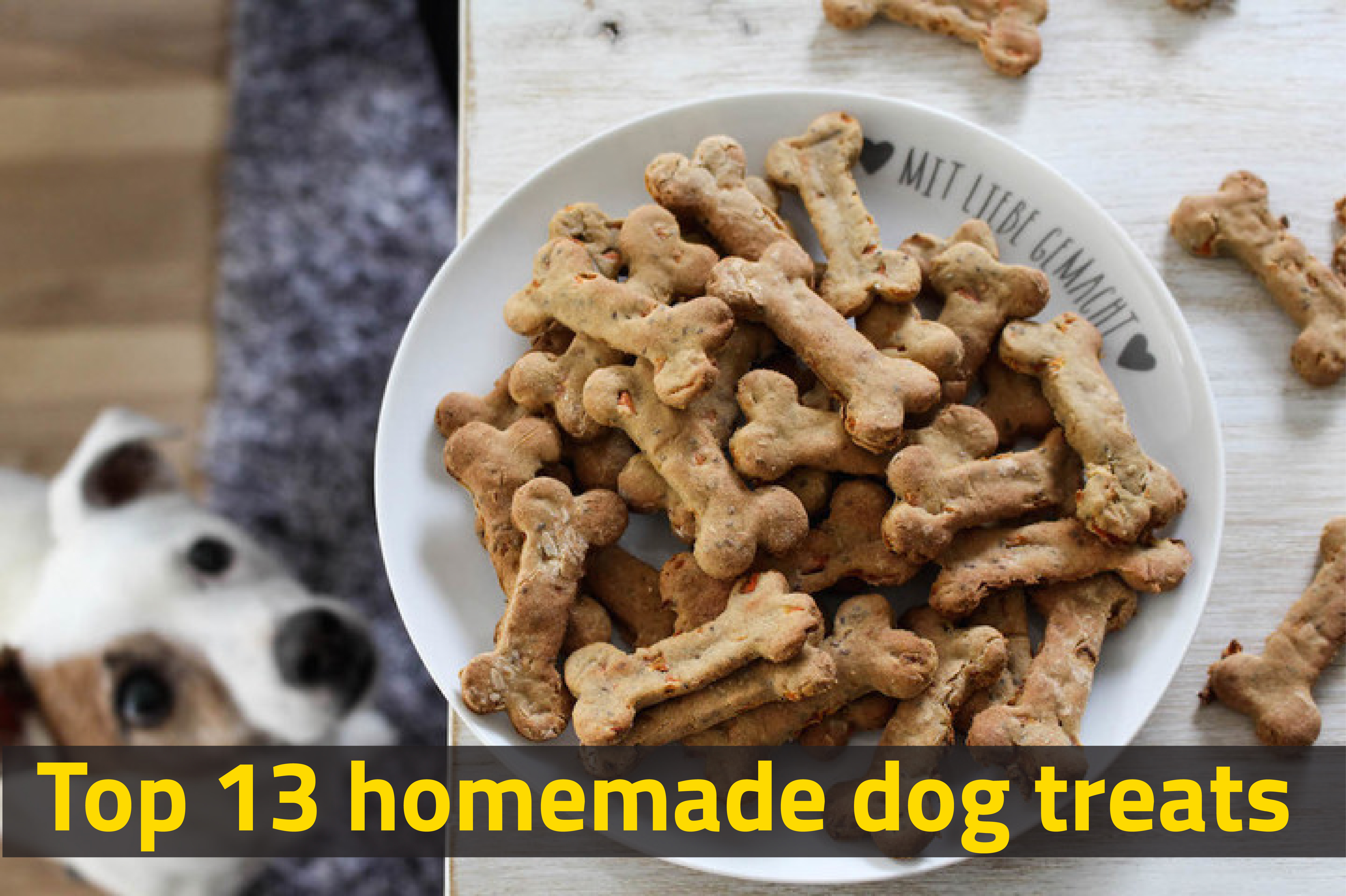 Top 13 homemade dog treats