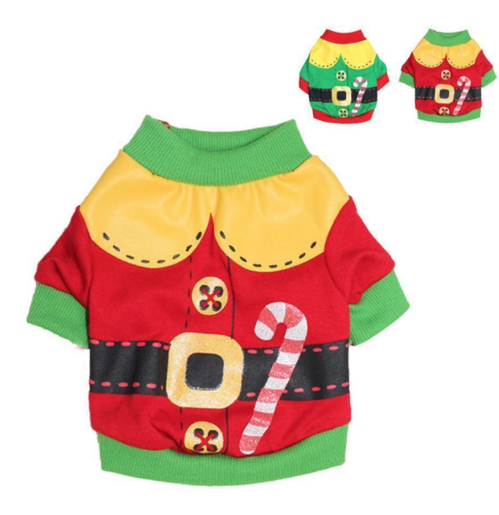 Ugly Christmas Sweaters for Dogs- The Christmas Santa Dog Clothes Sweater