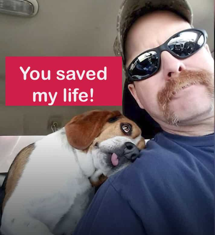 The Two Year Old Beagle Hugs The Man Who Saved Him From Euthanasia! |