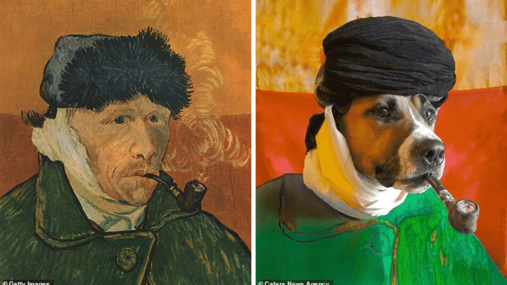 Dog Owner Recreates Amazing Artworks With Her Dog, and They're Stunning  