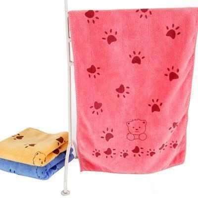 140*70cm Super-sized microfiber strong absorbing water bath pet towel Stunning Pets Red XL