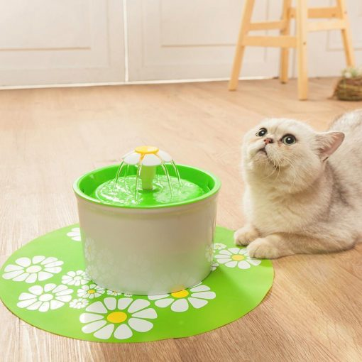 1.6L Flower Style Pet Water Drinking Fountain Stunning Pets