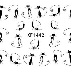 1X Cute Cat Dog Nail Art Sticker Stunning Pets Default Title