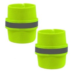 2pcs Reflective Wrist Band For Dog Stunning Pets Green L