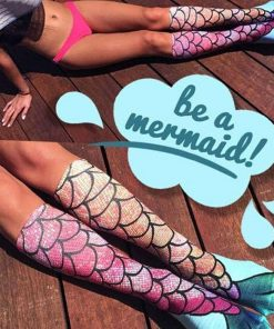 3D Mermaid Knee Socks Stunning Pets