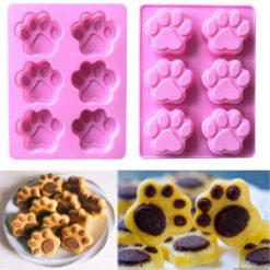 3D Paw Print Silicone Baking Mold Kitchen GlamorousDogs