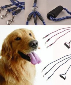 3-IN-1LEASH™: A Multiple Dog Walking Leash Pets Plum Coco L Blue