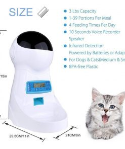 3L Automatic Pet Food Feeder Features Portion Control, Voice Automatic Feeder GlamorousDogs