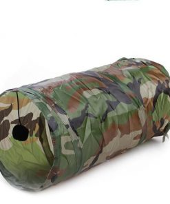 50*25cm Cat Play Tunnel Stunning Pets Army Green