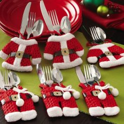 6Pcs Christmas Tableware Holder Christmas Tableware GlamorousDogs