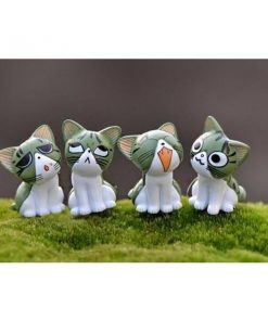 8pc Cats Miniature Decoration Stunning Pets Green