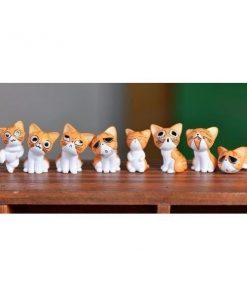 8pc Cats Miniature Decoration Stunning Pets Orange