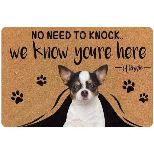 """Custom No Need to Knock We Know You're Here Doormat """"30*18 inch"""" 1"""