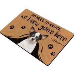"""Custom No Need to Knock We Know You're Here Doormat """"30*18 inch"""" 5"""