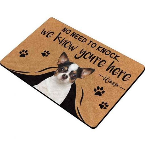 """Custom No Need to Knock We Know You're Here Doormat """"30*18 inch"""" 2"""