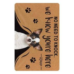 """Custom No Need to Knock We Know You're Here Doormat """"30*18 inch"""" 6"""