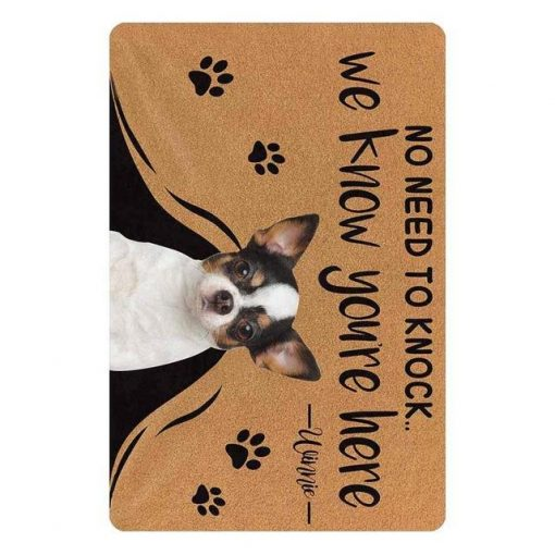 """Custom No Need to Knock We Know You're Here Doormat """"30*18 inch"""" 3"""