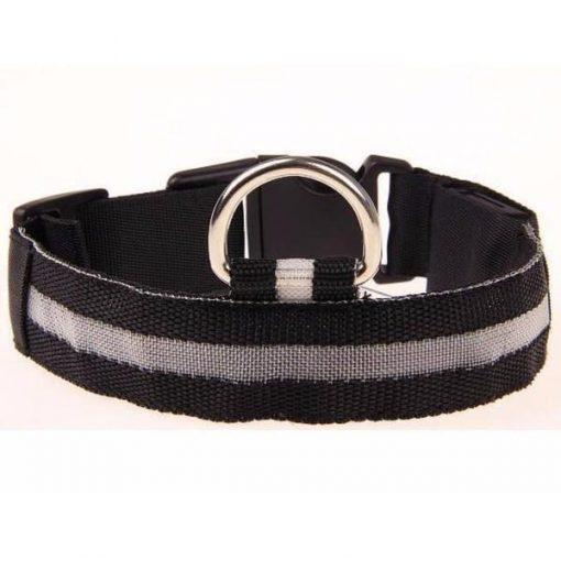 Adjustable LED Dog Collar to Keep Dogs Safe | ???? FREE ???? LED Collar Stunning Pets Black L