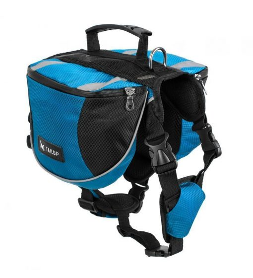 Adjustable Saddle Bag for Dogs GlamorousDogs S Blue
