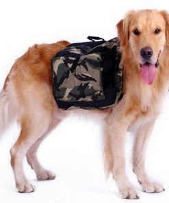 Adjustable Saddle Bag for Dogs GlamorousDogs S Camouflage