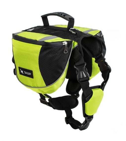 Adjustable Saddle Bag for Dogs GlamorousDogs S Green