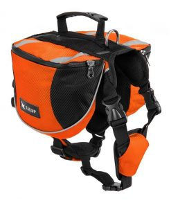 Adjustable Saddle Bag for Dogs GlamorousDogs S Orange