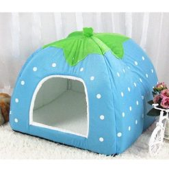 Adorable Dog Igloo Tent for Winter Stunning Pets Blue 26x26x28cm