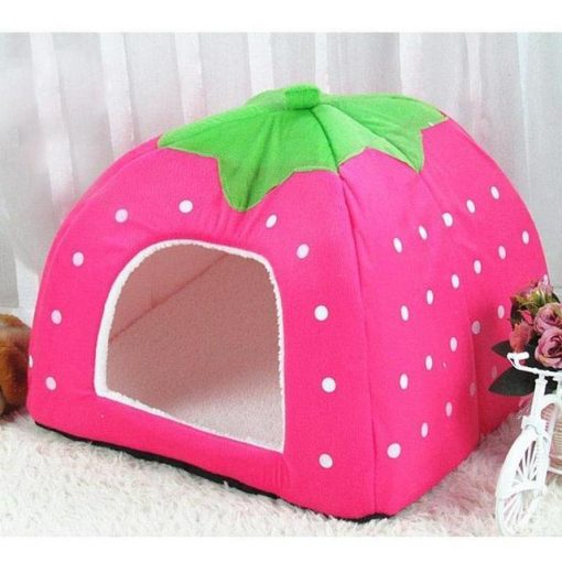 Adorable Dog Igloo Tent for Winter Stunning Pets Pink 26x26x28cm
