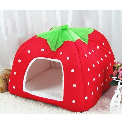 Adorable Dog Igloo Tent for Winter Stunning Pets Red 26x26x28cm