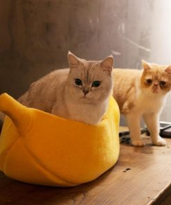 Banana shaped Pet Bed Stunning Pets