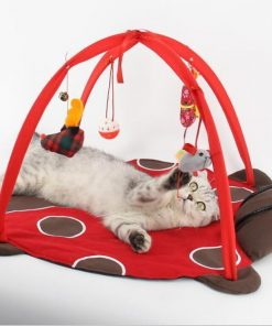 Bed Tent with Toys for Cats Stunning Pets Red M