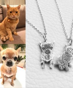 BETTERJEWELERY™: Customized Photo Necklace Sterling Silver Custom necklace GlamorousDogs