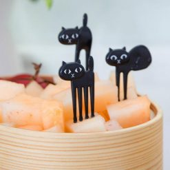 Black Cat Fork – 6 Pieces Pack Stunning Pets