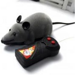 Black Funny Cat Toy Wireless RC Gray Rat Mice Stunning Pets