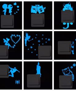 Blue-light Glow in the Dark Decoration Sticker Stunning Pets