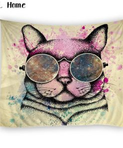 Bohemian Cat 3D tapestry Home accessories Stunning Pets
