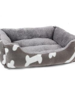 Bone Pattern Inspired Pet Bed Stunning Pets White S