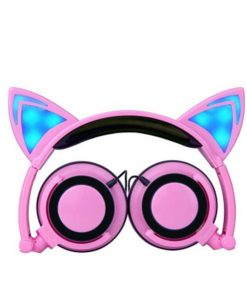 Cat Ear Headphone with Glowing LED Light Stunning Pets