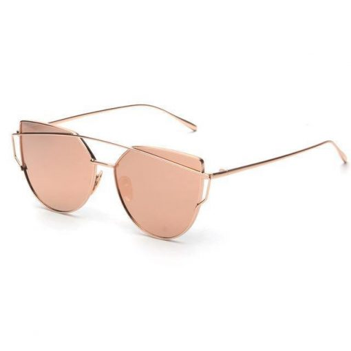 Cat Eye Elegant Sunglasses Stunning Pets pink mirror