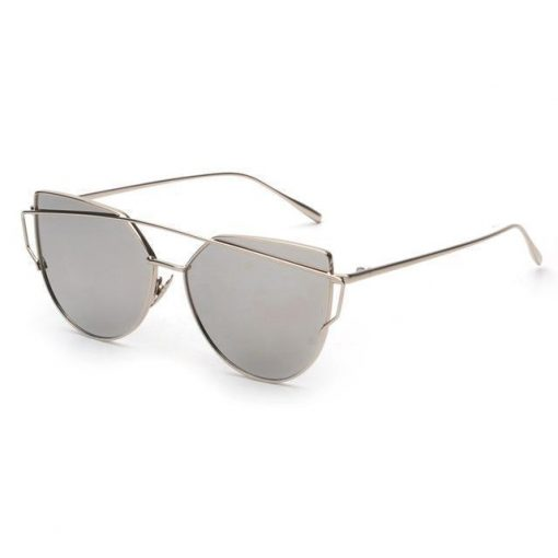Cat Eye Elegant Sunglasses Stunning Pets silver mirror