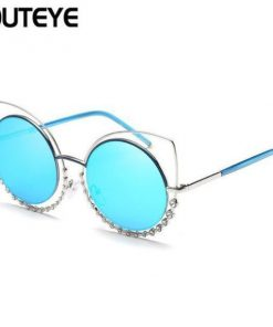 Cat Eye Mirror Sunglasses Stunning Pets 04