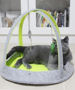 Cat House Bed with Dangling Toys Stunning Pets