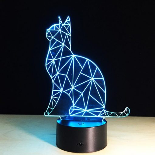 Cat Inspired Illusion Lamp Glamorous Dogs Shop - Glamorous Accessories for Your Dog + FREE SHIPPING