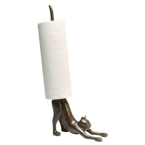 Cat Paper Towel Holder in Cast Iron Stunning Pets