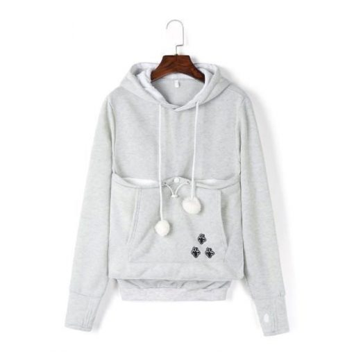Cat Pouch Hoodie| Cat Pouch Sweater Outfit Stunning Pets S gray