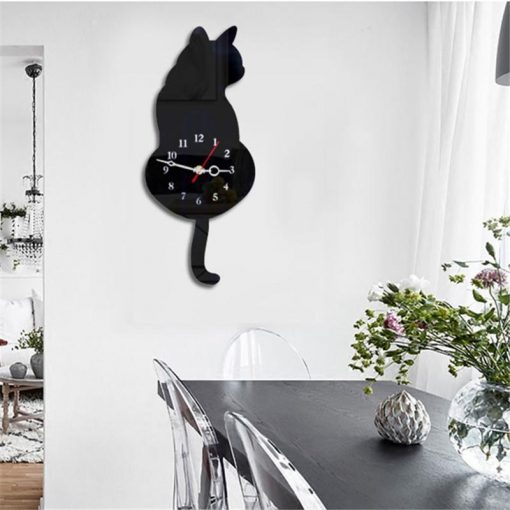 Cat-Tail Wagging Wall Clock Stunning Pets