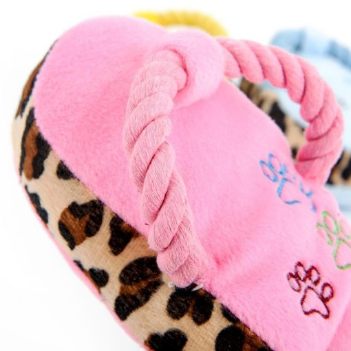 Chewable Squeaky Slipper-shaped Toy Stunning Pets